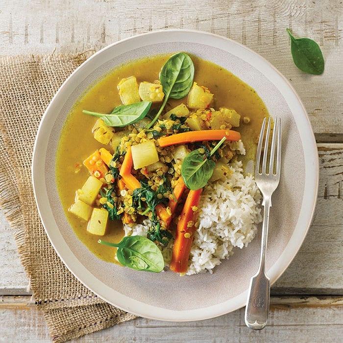 A Gousto Daikon Curry, topped with some crunchy beta-carotene