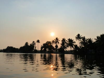 beautiful evening on the backwaters