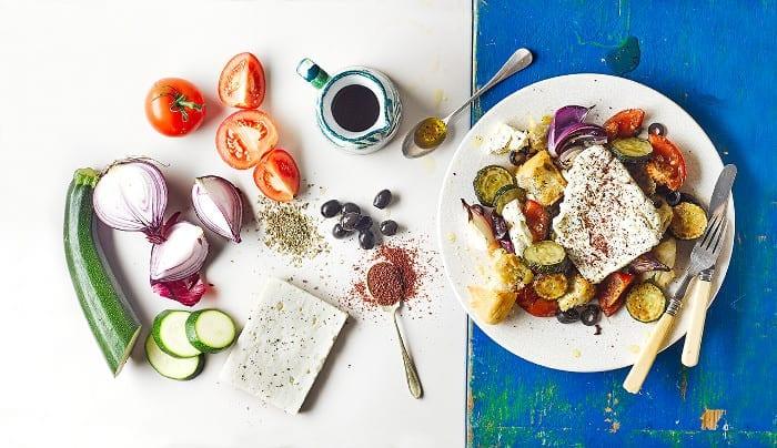 Warm Greek Salad Recipe