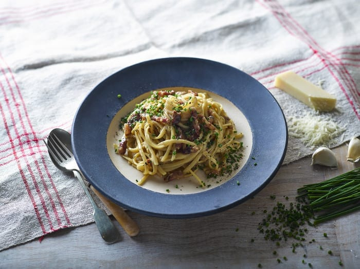 Quick Dinners: Herby Pancetta Carbonara With Chives