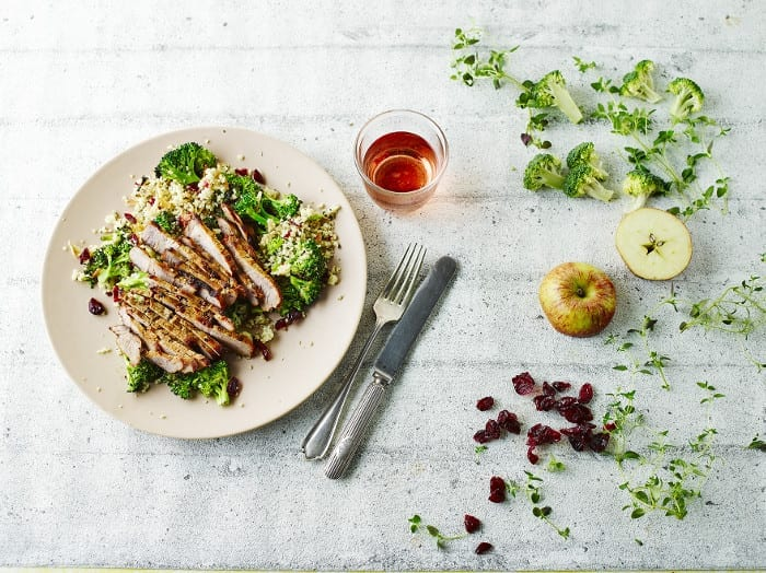 Spicy Pork Steaks With Broccoli Couscous recipe