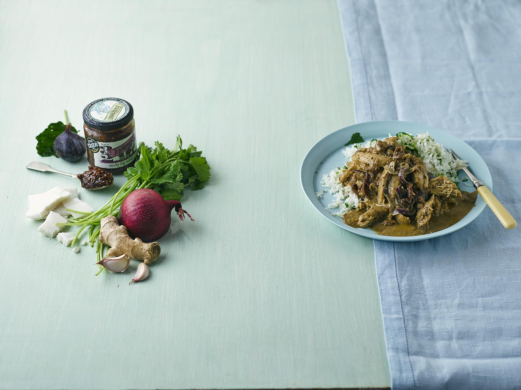 Figgy Chicken Curry With Coriander Rice