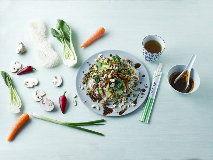 Pak Choi & Mushroom Noodle Stir-Fry recipe