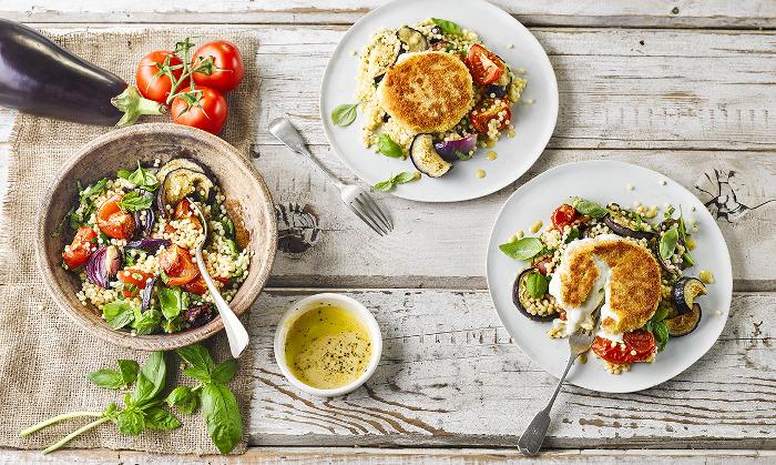 Golden Mozzarella & Veggie Couscous