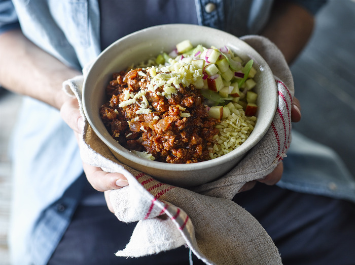 Mexican Pork Chilli With Apple Salsa