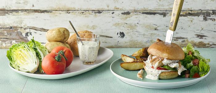 Pulled Chicken & Wholegrain Mayo Burger