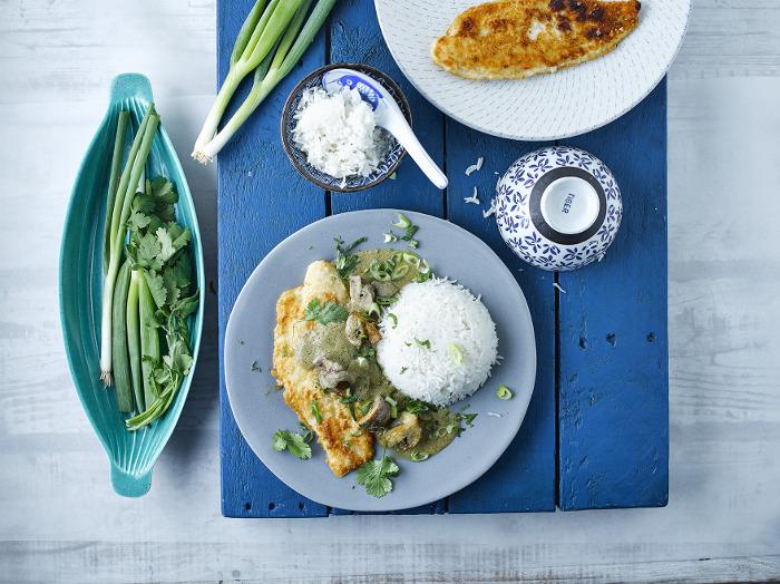 Crispy Fish With Thai Curry Sauce