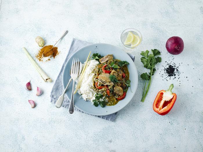 Chicken, Red Pepper & Lemongrass Curry