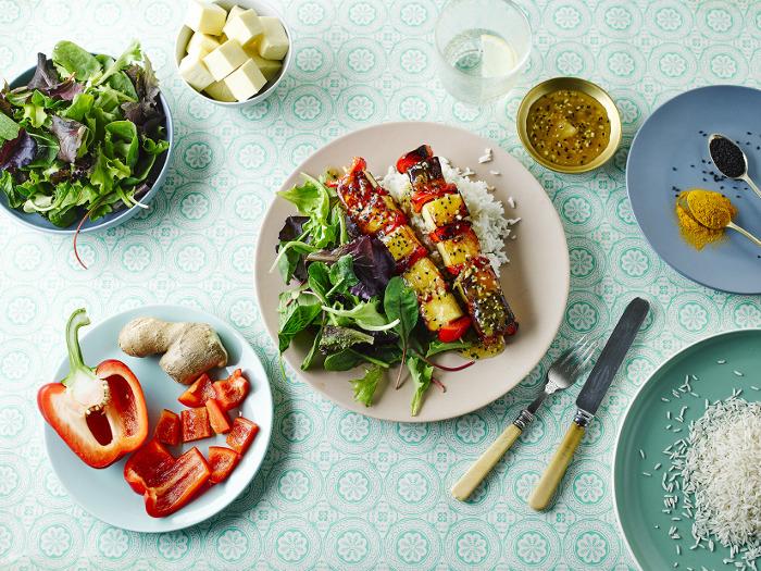 Red Pepper & Mango Paneer Kebabs