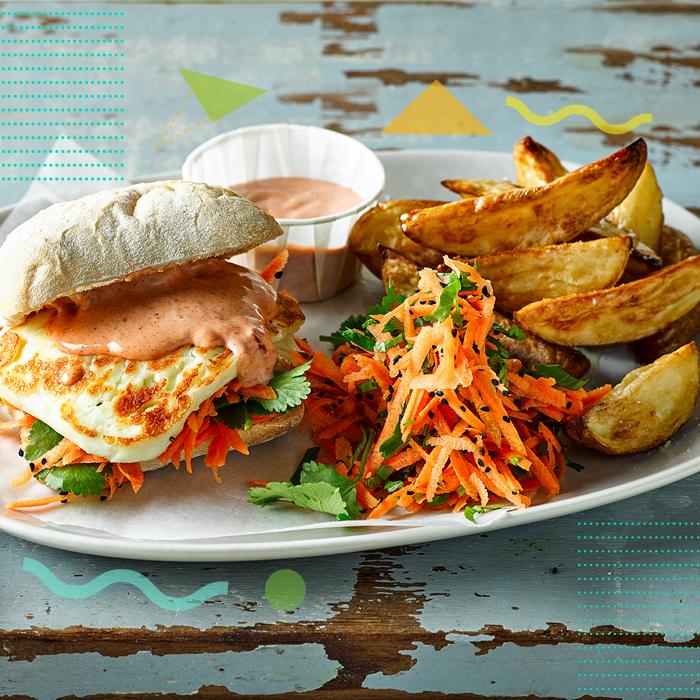 Heatwave Harissa Halloumi Burger