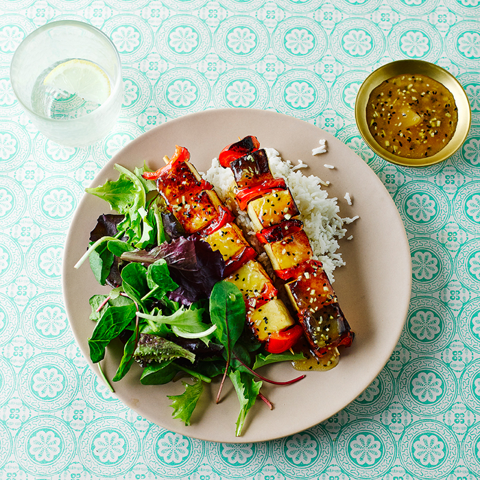 Red Pepper & Mango Paneer Kebabs