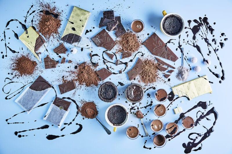 a range of chocolate