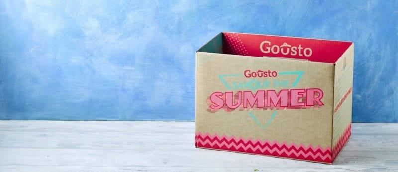Gousto recipe box summer