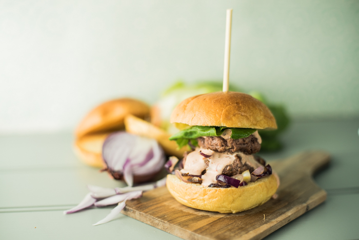 slider double chipotle burger recipe