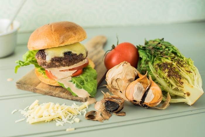 slider balsajo black garlic burger recipe