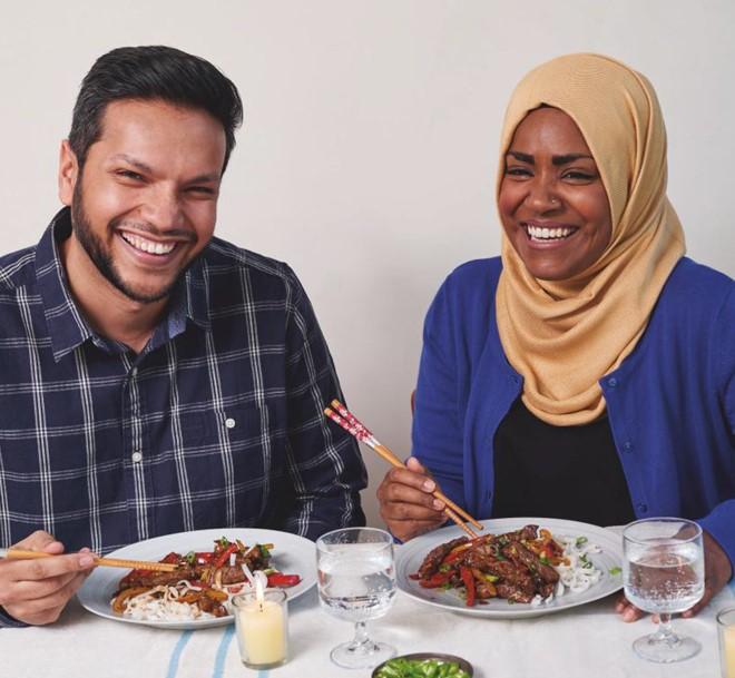 Great British Bake Off Winner Nadiya Hussain with husband