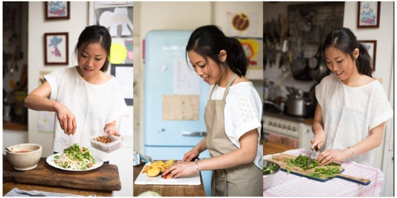 Shu Han Lee cooking at home