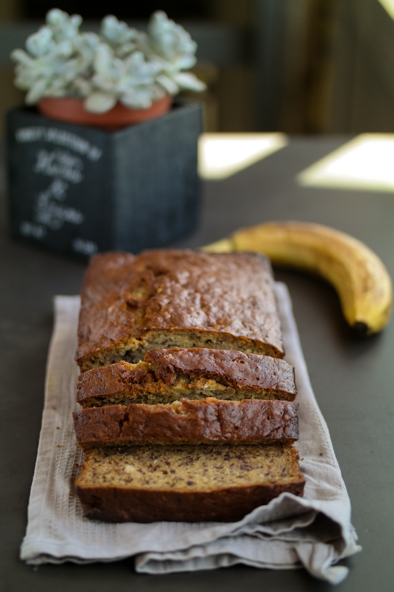 Freshly Baked Banana Bread Loaf