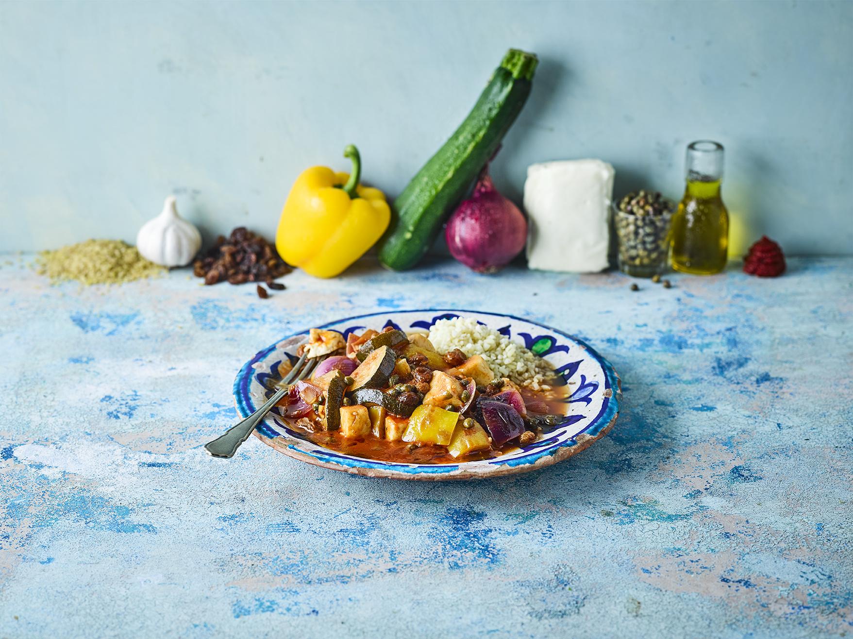 Gousto Recipe Melty Vegetable & Halloumi Stew