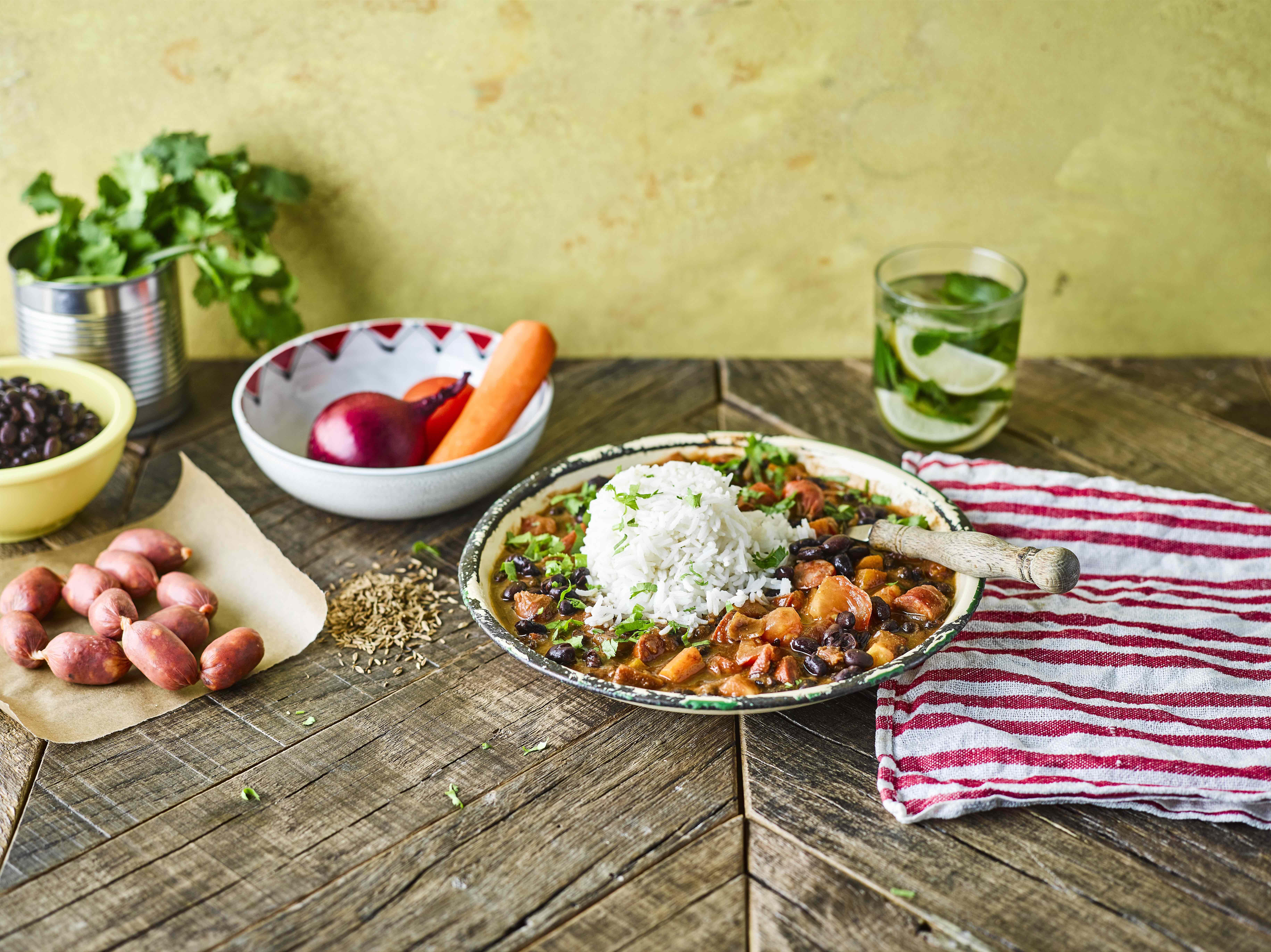 Gousto Recipes Smoky Cuban Chorizo Stew