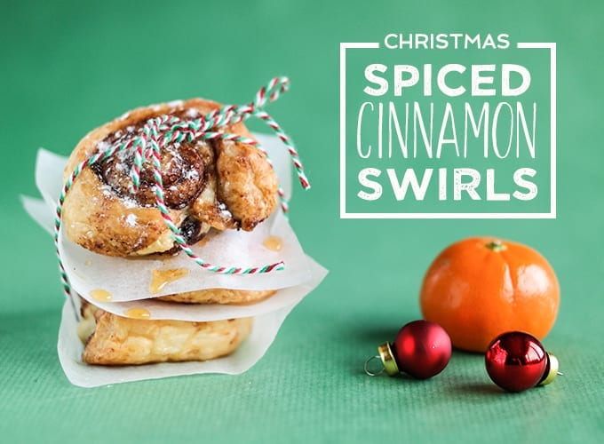 Christmas Spiced Cinnamon Swirls