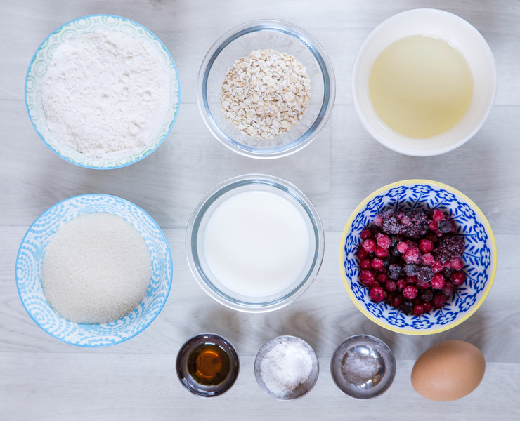 Healthy Muffin Ingredients