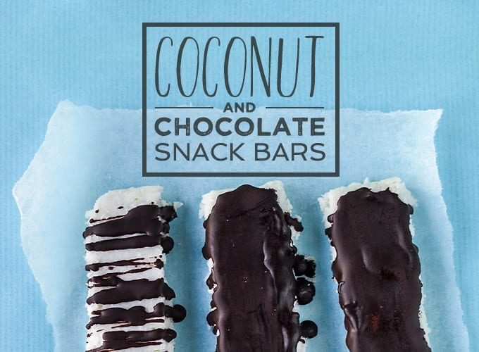 coconut and chocolate snack bars