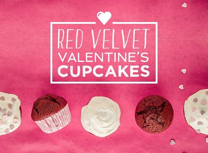 red velvet valentines cupcakes