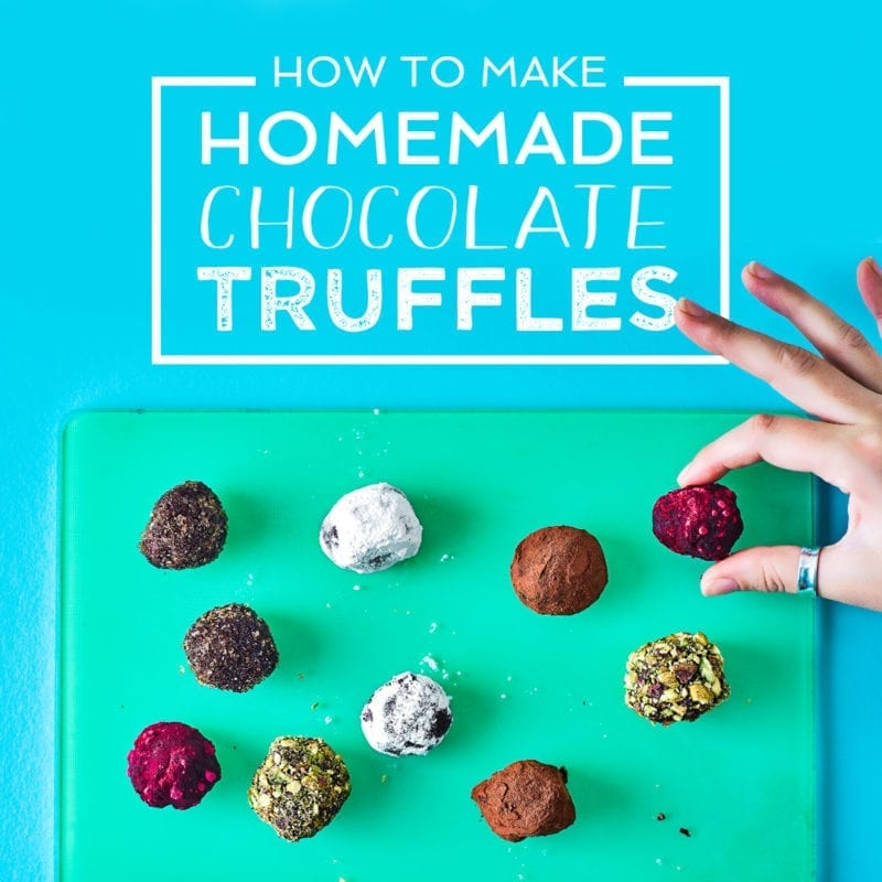 Making Homemade Chocolate Truffles Recipe