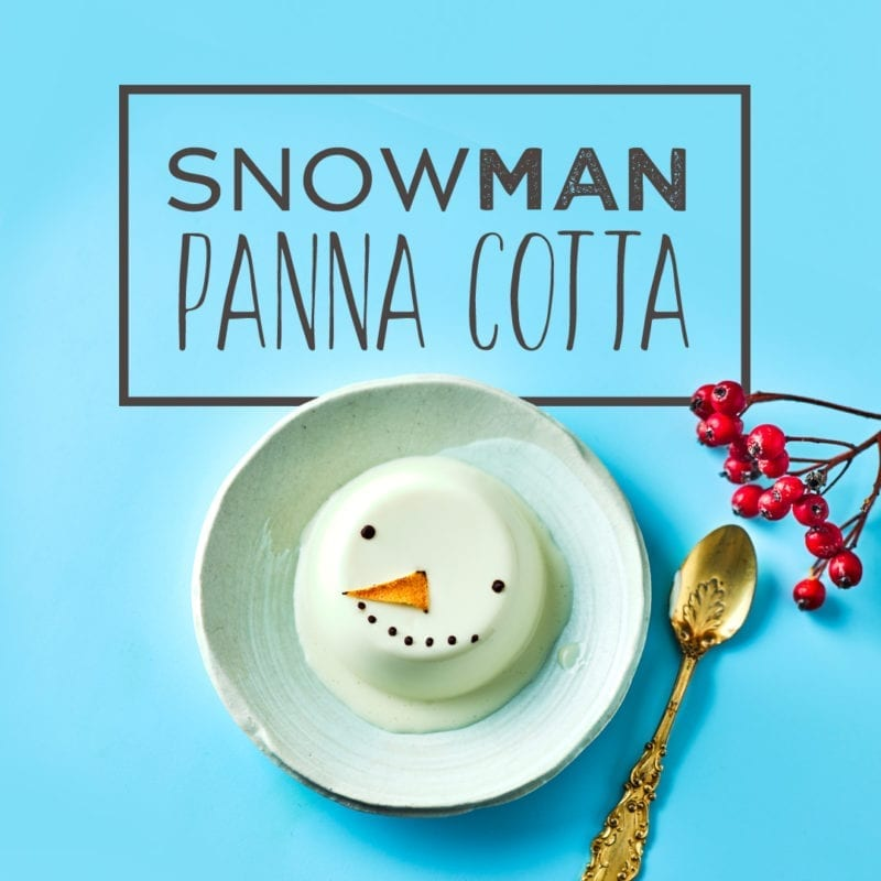 Snowman Panna Cotta Recipe
