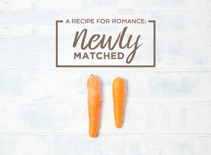 newly matched recipe box valentines