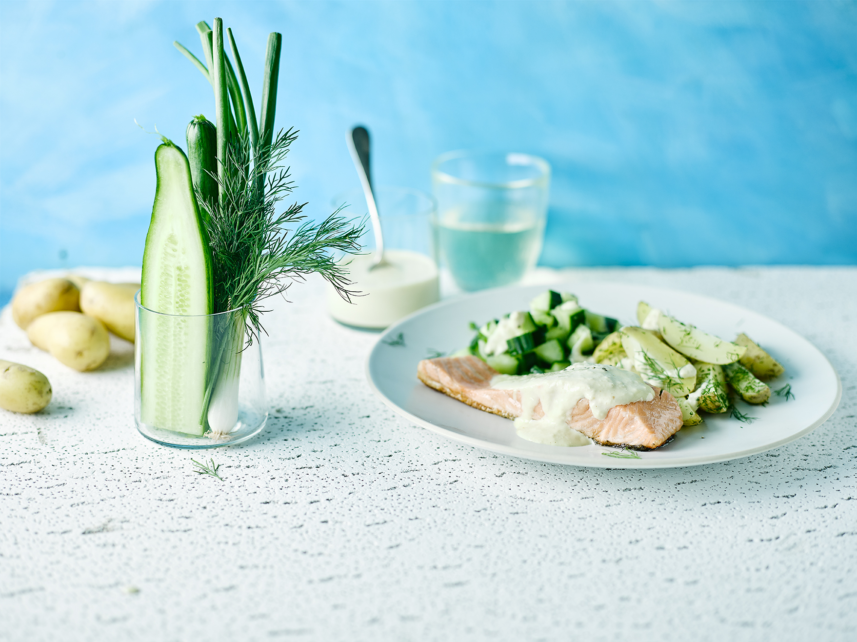 scandi salmon with horseradish mayo