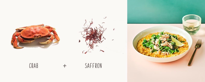 Saffron, Crab & Clotted Cream Risotto