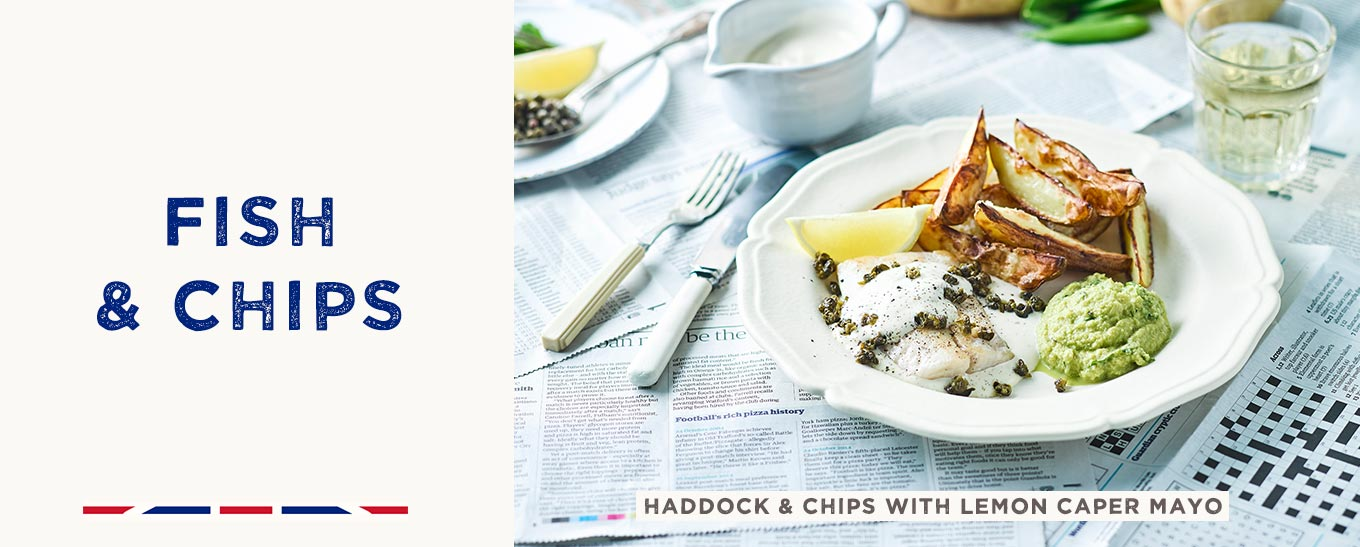 Haddock & Chips with Lemon Caper Mayo recipe