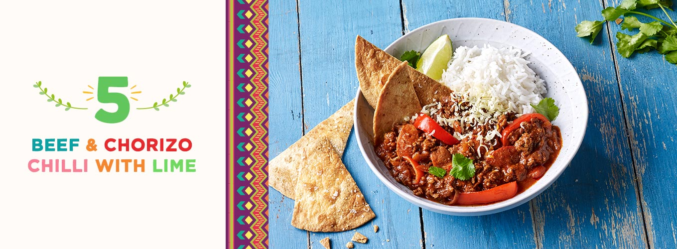 Beef & Chorizo Chilli With Lime recipe