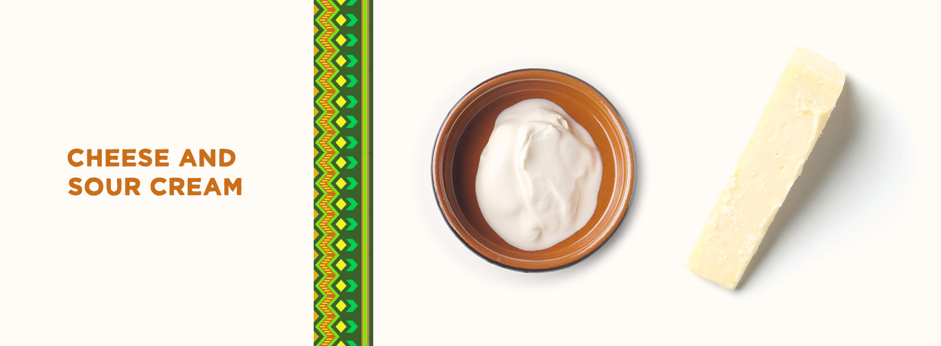Mexican Ingredients: cheese & sour cream