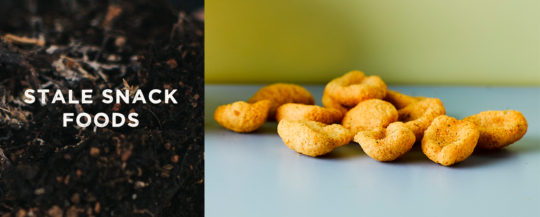 composting stale snack food