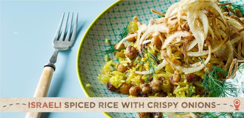 israeli spiced rice with crispy onions recipe