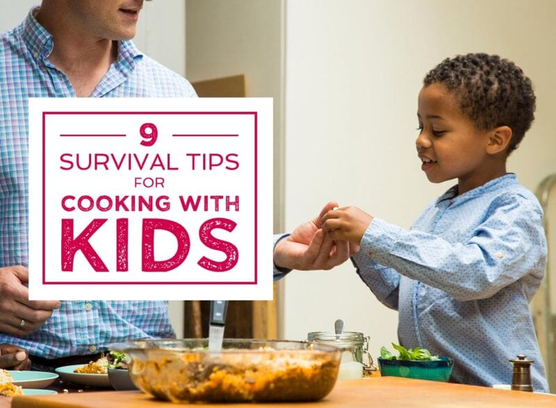 survival tips for cooking with kids