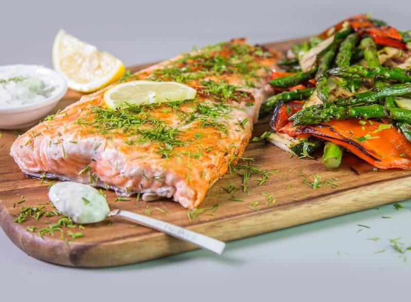 healthy barbecue salmon